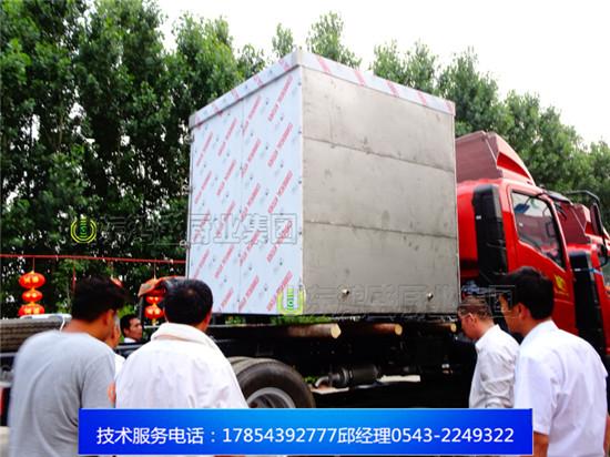 【大型食品蒸箱,蒸4辆周转车食品蒸房发往陕西渭南市,真正的源头企业】压力蒸房压力探头设计,安全性更高
